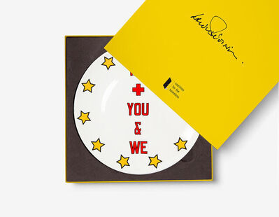 """Lawrence Weiner, '""""Me + You & We"""" Artist Plate Project', 2020"""