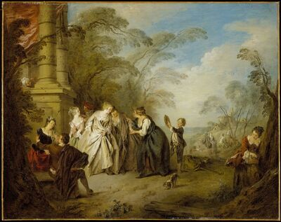 Jean-Baptiste Joseph Pater, 'La Bonne Aventure (The Fortune Teller)', 1731