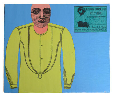 Larry Lewis, 'Untitled (Reduce Your Flesh) - Page from mixed media collage book, Side A and B', ca. 1970