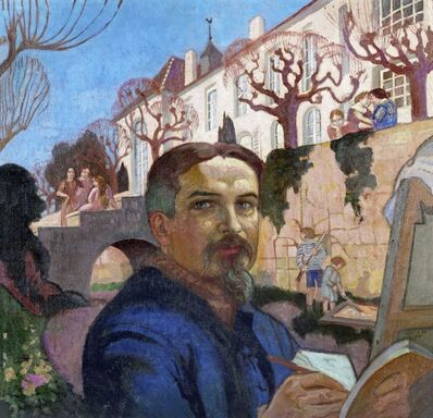 Maurice Denis, 'Self Portrait in front of the Priory', 1921