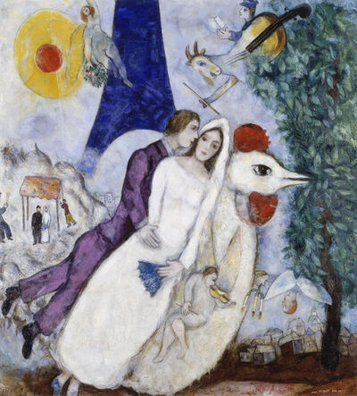 Marc Chagall, 'The Couple of the Eiffel Tower (Bride and Groom of the Eiffel Tower)', 1938-1939