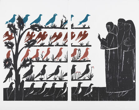 Andrea Büttner, 'Vogelpredigt', 2010