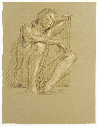 Paul Cadmus, 'Resting Male Nude', ca. 1980