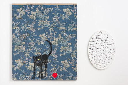 Jenny Watson, 'Old black cat and red rubber ball', 2018