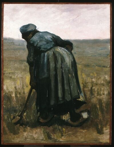 Vincent van Gogh, 'A woman with a spade, seen from behind', 1885