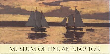 Winslow Homer, 'Prout's Neck, Mackerel Fleet at Sunset', 1986