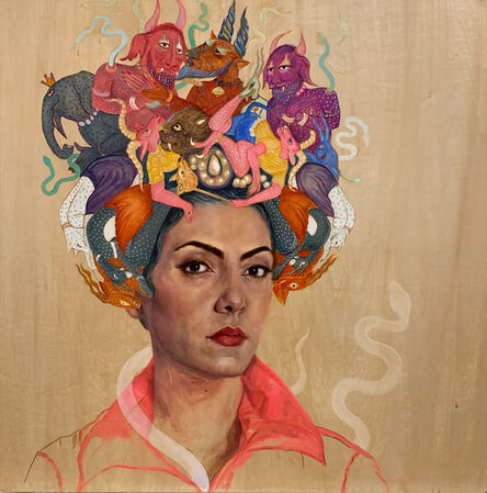 Bahar Sabzevari, 'Persian Medusa (Crown Series)', 2020