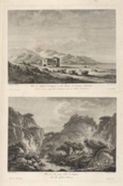 Jean Claude Richard de Saint-Non (author), 'Vu‰ de la Rochetta ; Vu‰ de Squillace, situ'e prŠs des Ruines de l'antique Scyllatium', 1781