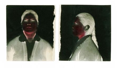 Milagros de la Torre, 'Under the black sun (Diptych, front-profile) ', 1991-1993 (Vintage Print | Copia de época)
