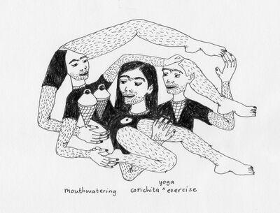Marlene Steyn, 'Mouthwatering Conchita Yoga Exercise', 2015