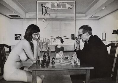 Julian Wasser, 'Chess Match, Duchamp scratching nose, Duchamp Retrospective, Pasadena Art Museum', 1963