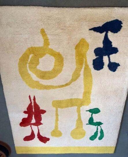 "Joan Miró, 'Rare, Surrealist ""the Dream"" Vintage Tapestry Rug Joan Miro', 1960-1969"