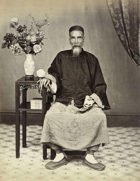 Lai Afong, 'Old man sitting', 1861-1870