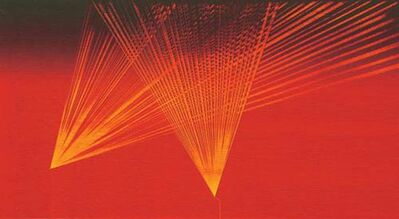 """Sunil Gawde, 'Abstract, Oil in Bright Red & Yellow by Indian Artist Sunil Gawde """"In Stock""""', 2007"""