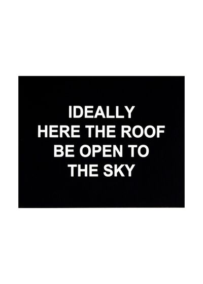 Laure Prouvost, 'Ideally here the roof be open to the sky', 2016