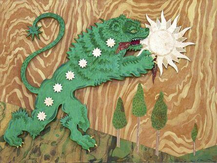 Deming King Harriman, 'GREEN LION DEVOURS THE SUN'