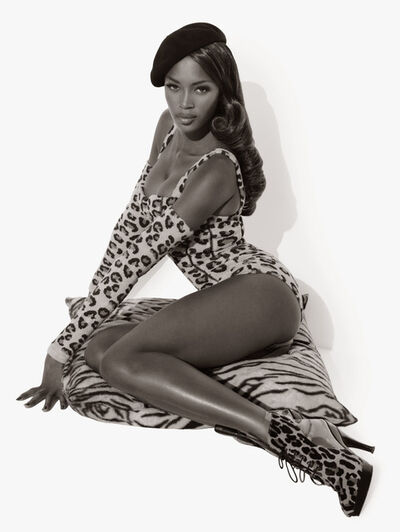 Herb Ritts, 'Naomi Seated', 1991