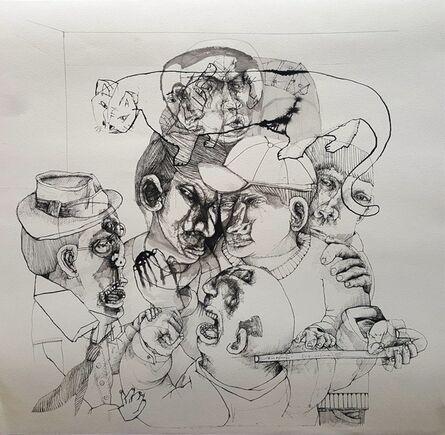 Sergio Moscona, 'A los bastonazos', 2015