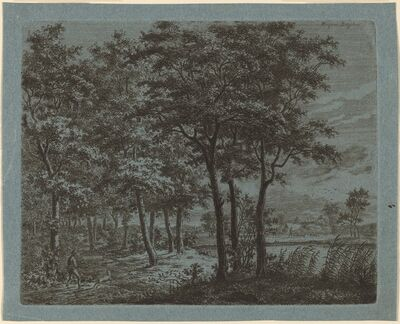 Ernst Willem Jan Bagelaar, 'Landscape with a Peasant Carrying Firewood', ca. 1800