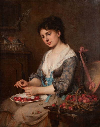 Saint-Jean Paul, 'Young Girl with Strawberries', 1871