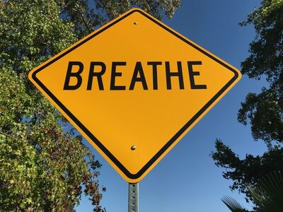 """Scott Froschauer, '""""Breathe""""- Contemporary Street Sign Sculpture', 2017"""