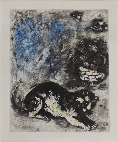"""Marc Chagall, '""""The cat and the two sparrows""""', 1952"""