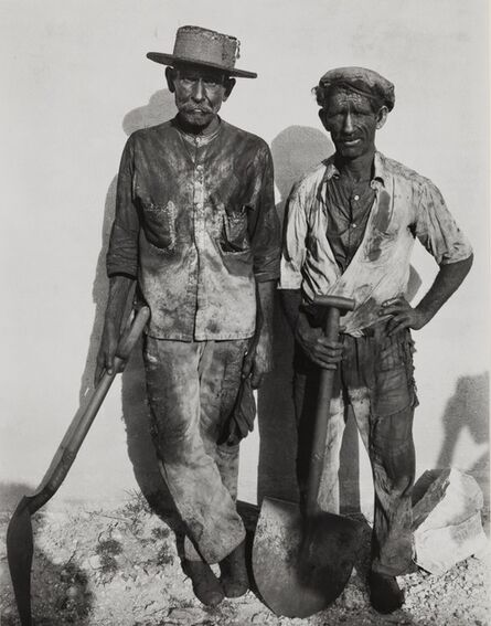 Walker Evans, 'Coal Dock Workers, Havana [variant]', 1933