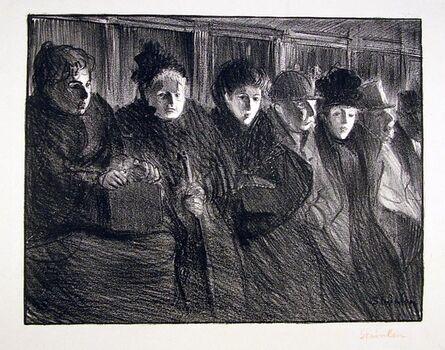 Théophile Alexandre Steinlen, 'Interior of Tramway', 1896