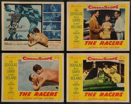 Anon, 'RACERS 8 Lobby Cards '55 Kirk Douglas, sexy Bella Darvi, Lee J. Cobb, car racing!', 1955