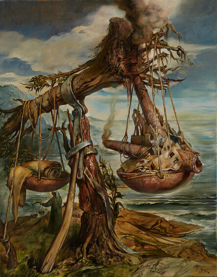 Samuel Bak, 'Scroll of the Living Sea', 2015