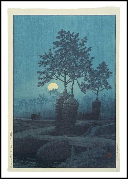 Kawase Hasui, 'Moon at Gamo', 1932