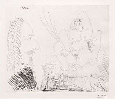 Pablo Picasso, 'Courtisane au Lit avec un Visiteur, from the 347 Series', 1968