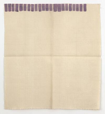 Giorgio Griffa, 'Pennello piatto', 1972
