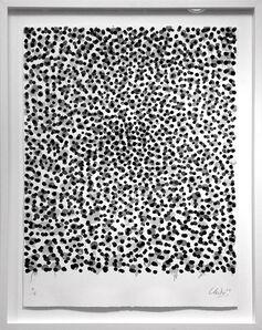 Günther Uecker, 'Permutation, Grau-schwarz', 2002