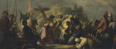 'Christ on the road to Golgotha'