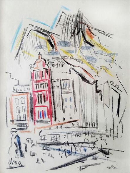 John Marin (1870-1953), 'New York Street Movement and Figure', 1925