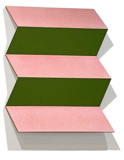 Ronald Davis, 'Pink and Green Zig Zag', 2010