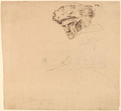 "Emanuel Gottlieb Leutze, 'Studies for ""Washington Crossing the Delaware"" [recto]', 1849"