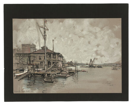 Jules Andre Smith, 'The Riverside Yacht Club', ca. 1915