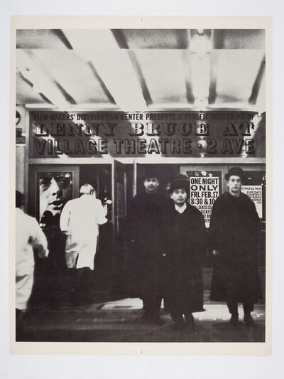 George Maciunas, 'Lenny Bruce Film at the Village Theatre, February 17th. 1967', 1967