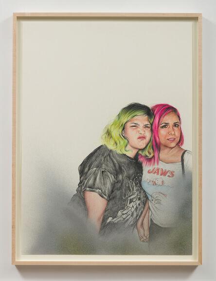 Shizu Saldamando, 'Vikki and Audrey, Chicas Rockeras', 2018