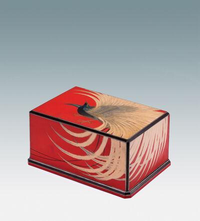 "Futagi Seihō, 'Decorative Box with ""Bird of Paradise""', ca. 1942"