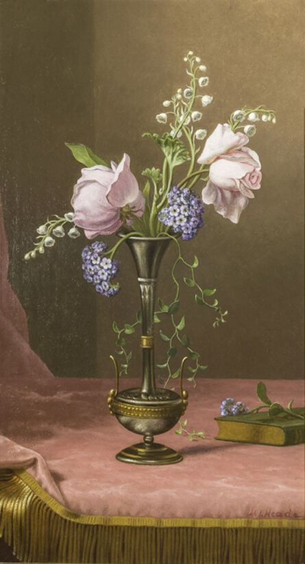 Martin Johnson Heade, 'Victorian Vase with Flowers of Devotion', about 1871-80