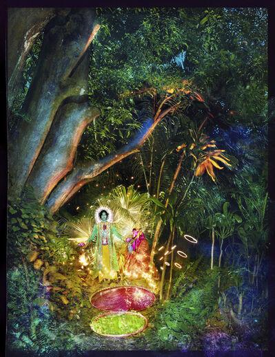 David LaChapelle, 'Jesus And Buddha Under A Tree', 2017