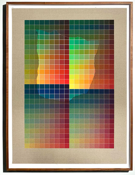 Analía Saban, 'Transcending Pigment from Paint to Canvas, from Canvas to Paint (Color) #2 No. V', 2020