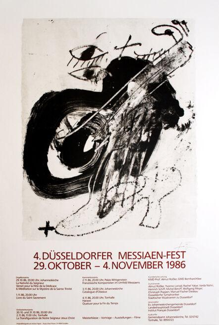 Antoni Tàpies, '4. Düsseldorfer Messaien-Fest', 1986