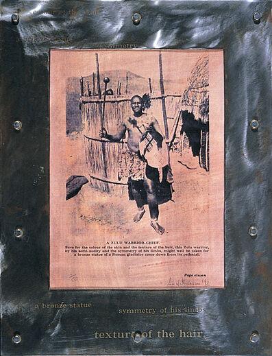 Sue Williamson, 'Zulu Warrior', 1992