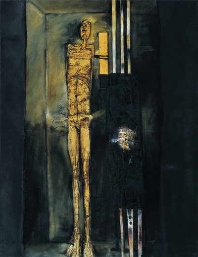 LJUBO IVANČIĆ, 'Elongated Figure in Black', 1966