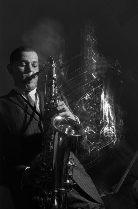 John 'Hoppy' Hopkins, 'Dexter Gordon with Squiggles, Ronnie Scott's Jazz Club, London', 1962