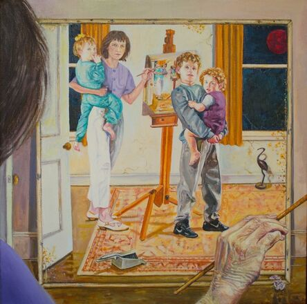 Wendy Elia, 'Time just slips…(self-portrait with kids)', 2019